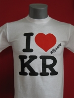 Biała koszulka I love KR
