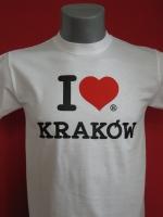 Biała koszulka I love KRAKÓW