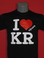 Czarna koszulka I love KR