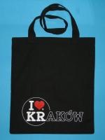 Czarna torba I love KRAKÓW