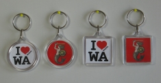 Breloki ze znakiem I love WA