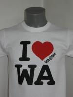 Biała koszulka I love WA