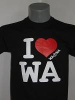 Czarna koszulka I love WA